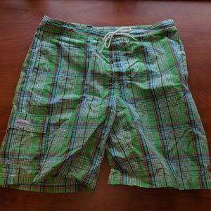 Multi-Colored Polo by Ralph Lauren XL Swimsuit